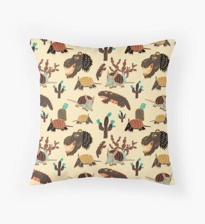 Desert Creatures Throw Pillow