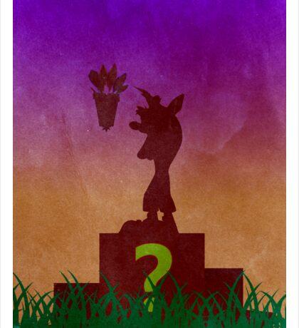 Crash Bandicoot Minimalist Art Sticker