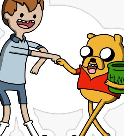 Finnie the Pooh Sticker