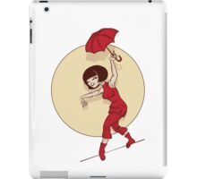 Pinup  illustration of young woman funambulist iPad Case/Skin