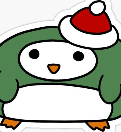 Short Fat Penguin Sticker