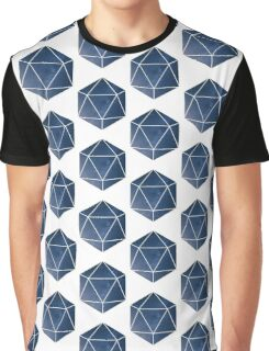 D20 - Blue Space Graphic T-Shirt