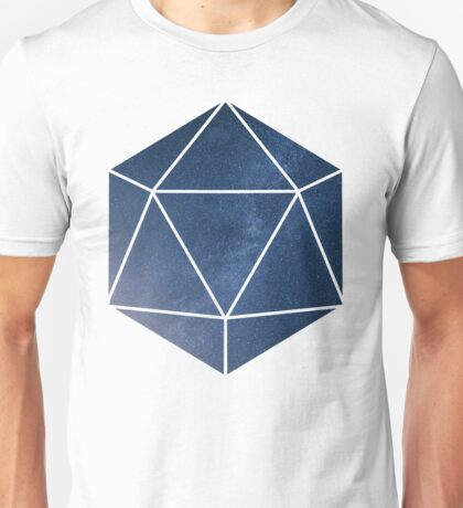 D20 - Blue Space Unisex T-Shirt