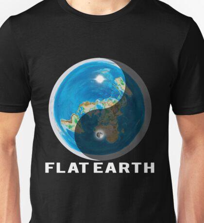 Flat Earth Yin and Yang  Unisex T-Shirt