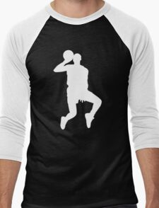 '88 Jordan in White Men's Baseball ¾ T-Shirt