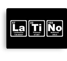 Latino - Periodic Table Canvas Print