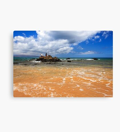 Fishing In Maui Canvas Print
