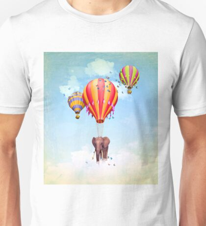 Elephant first fly  Unisex T-Shirt