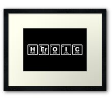 Heroic - Periodic Table Framed Print