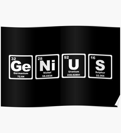 Genius - Periodic Table Poster