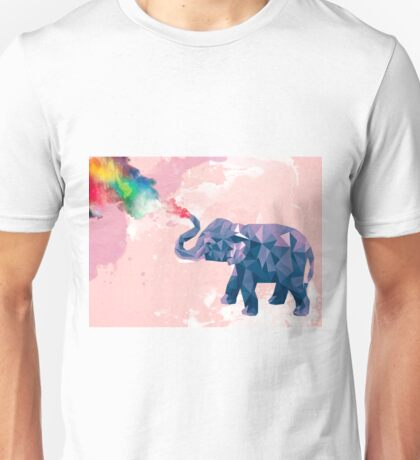 Elephant rainbow shower  Unisex T-Shirt