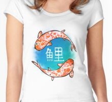 Japanese Koi Fish Women's Fitted Scoop T-Shirt