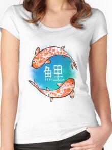Japanese Koi Fish Women's Fitted Scoop T-Shirt