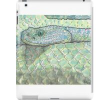 Snake watercolor study iPad Case/Skin