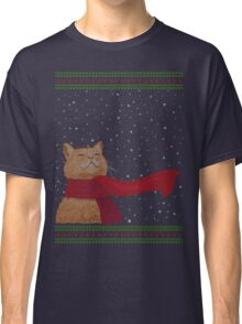 Tabby loves Snow (Knitted-version) Classic T-Shirt