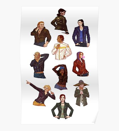 Rogues in Leather Jackets Poster
