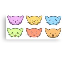 The Many Emotions of Kitties Canvas Print