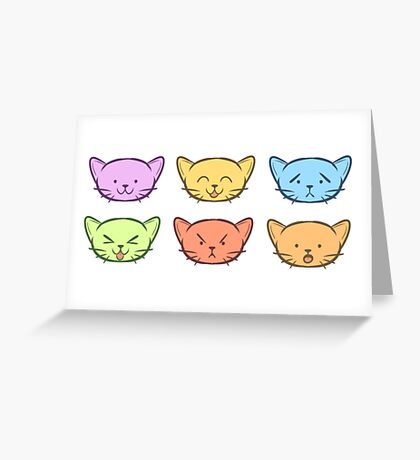 The Many Emotions of Kitties Greeting Card
