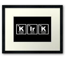 Kirk - Periodic Table Framed Print