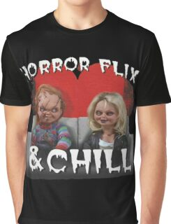 Horror Flix & Chill Graphic T-Shirt
