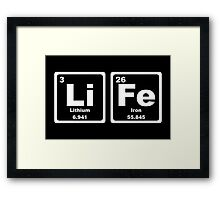 Life - Periodic Table Framed Print