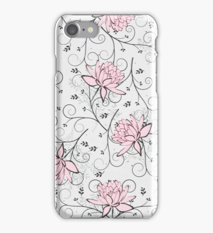 Floral tapestry light. iPhone Case/Skin