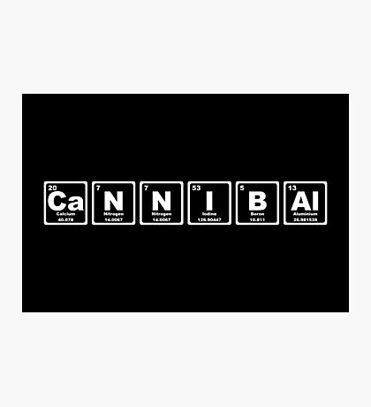 Cannibal - Periodic Table Photographic Print