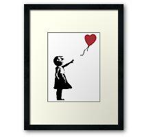 Banksy Red Balloon Framed Print