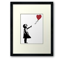 Banksy Red Balloon Framed Print