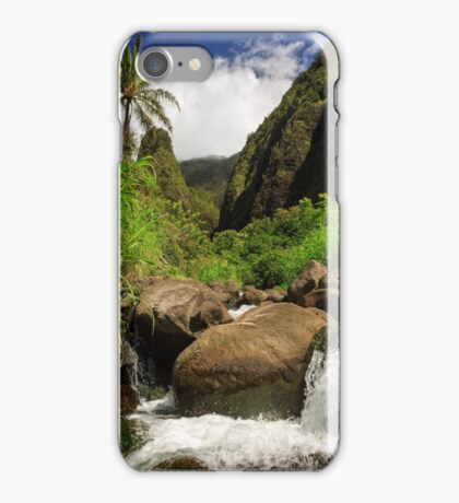 Waterfall At The Iao Needle iPhone Case/Skin