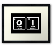 Oi - Periodic Table Framed Print