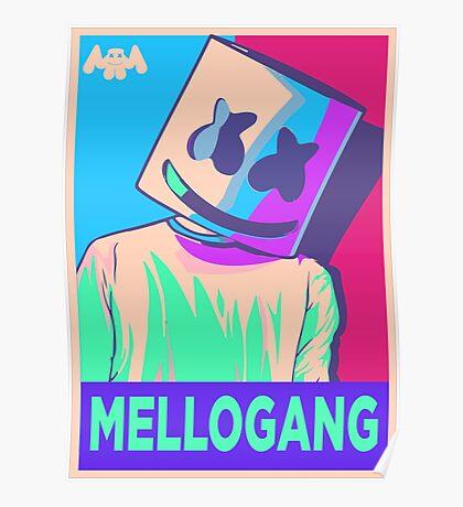 Marshmello Mellogang Neon Poster