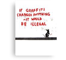 Banksy Graffiti Canvas Print