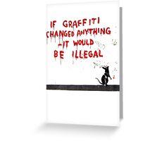 Banksy Graffiti Greeting Card