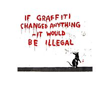 Banksy Graffiti Photographic Print