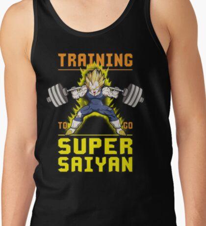 Training To Go Super Saiyan - Vegeta Squat - Leg Day Tank Top