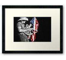 Brad Paisley in Concert Framed Print