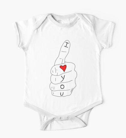 I love you - thumbs up One Piece - Short Sleeve