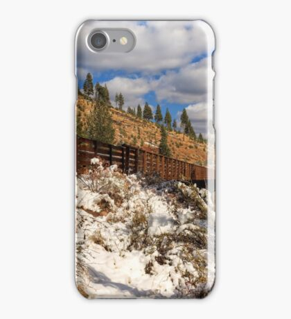 Winter On The Bizz Johnson Trail iPhone Case/Skin