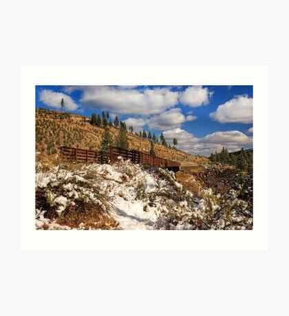 Winter On The Bizz Johnson Trail Art Print