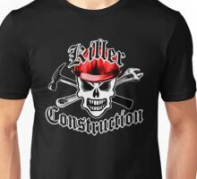 Construction Skull 2.1 with Crossed Tools Red Unisex T-Shirt