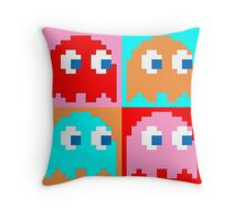 Pacman Ghosts Pop Art Throw Pillow
