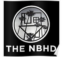The Neighbourhood Palm Tree Print The NBHD Band Shirt White Poster