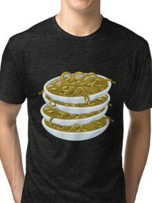 Glitch Food fried noodles Tri-blend T-Shirt