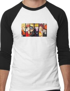 ANIME COLLAGE SHIRT Men's Baseball ¾ T-Shirt