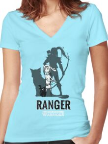 AFTER SCHOOL WARRIORS: RANGER Women's Fitted V-Neck T-Shirt