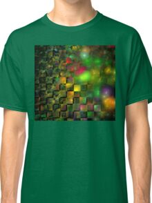 Orange Green Cubes Classic T-Shirt