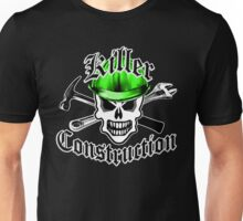 Construction Skull 2.1 with Crossed Tools Green Unisex T-Shirt