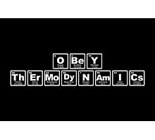 Obey Thermodynamics - Periodic Table Photographic Print