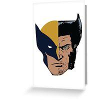 Wolverine Logan Face Greeting Card